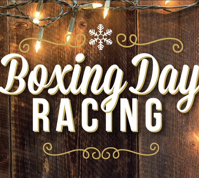 Promotional image for Boxing Day Racing.