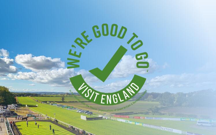 Sedgefield Racecourse has obtained the Visit Britain stamp of approval so you know we're taking your safety seriously