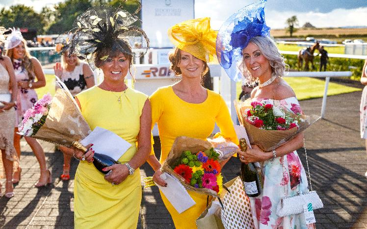 Best dressed lady competition at Sedgefield Racecourse